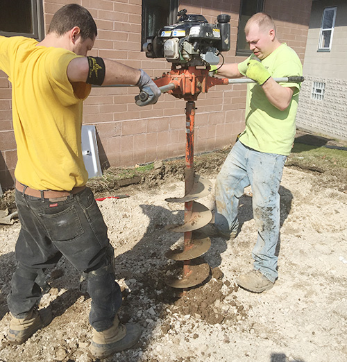 Drilling into The Ground - Stow, OH - Premier Wall Anchor & Waterproofing
