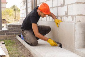 repairing a concrete wall