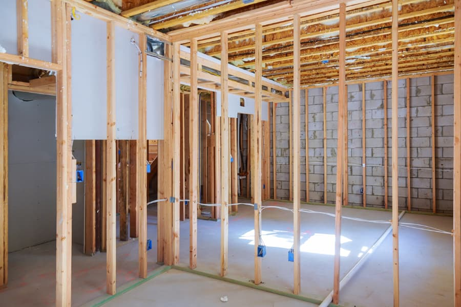 basement walls under construction