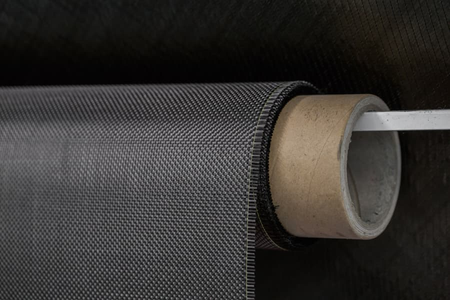 carbon fiber roll with black background